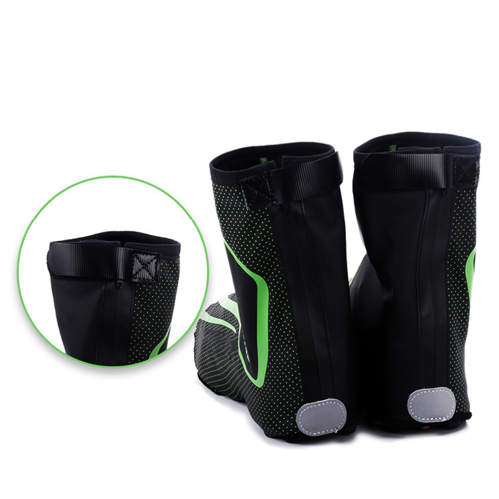 Men Women Universal Cycling Shoes Cover Hiking Winter Thermal Zipper Design Climbing Protective Outdoor Waterproof Overshoes