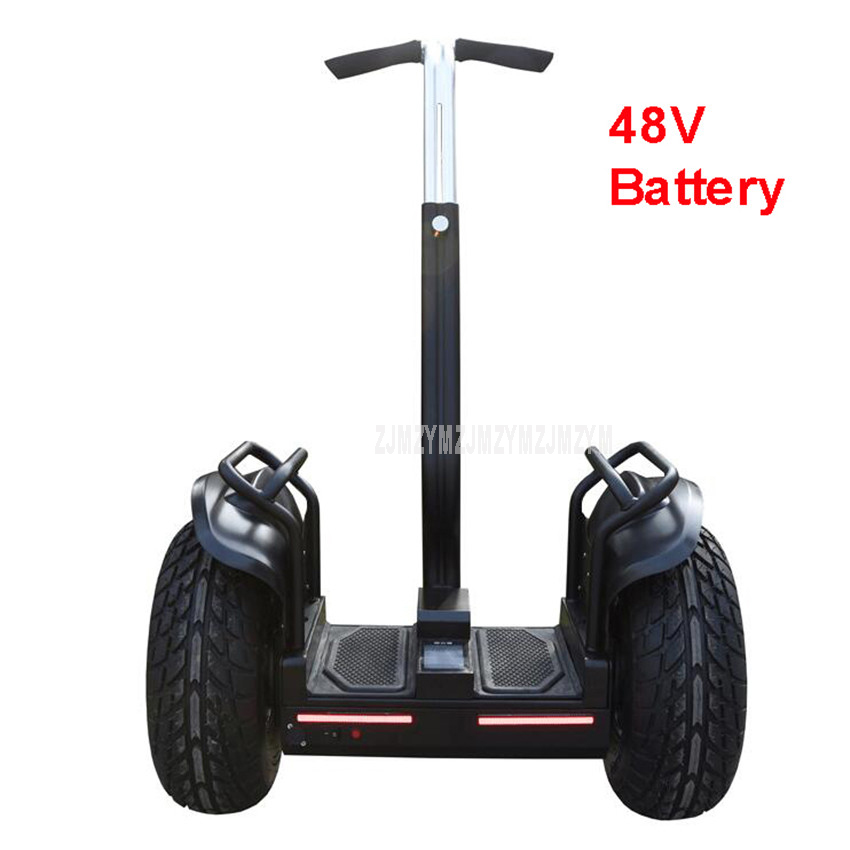 19 inch Electric Scooter Skateboard Two Wheel Self Balancing Scooter With Handrail Bluetooth Speaker 48V Battery Hoverboard