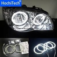HochiTech for Fiat Albea 2005 2012 Ultra bright SMD white LED angel eyes 2600LM 12V halo ring kit daytime running light DRL
