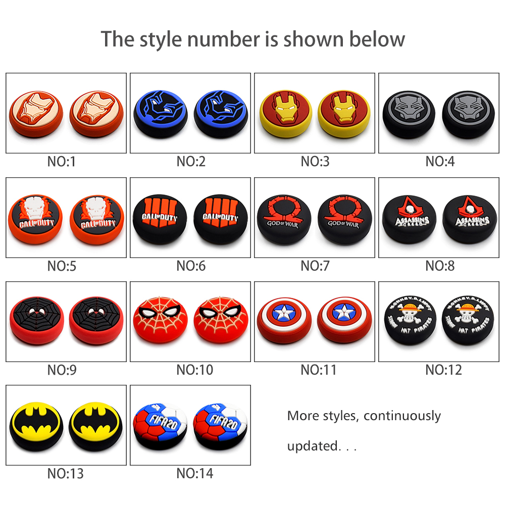 2019 New Silicone Analog Gamepad Joystick Thumb Stick Grips Caps For PS4 / Xbox One/360 /NS Pro Game Controller Accessories