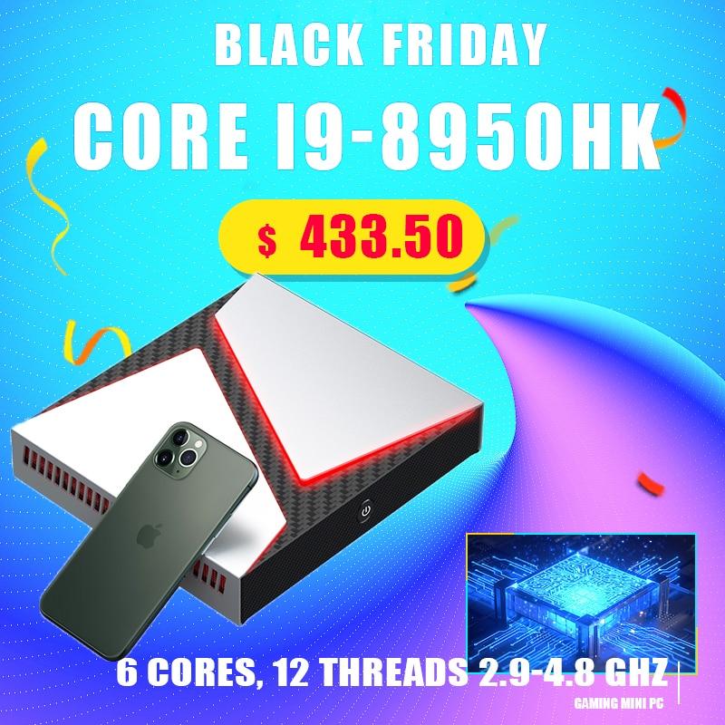 Высокопроизводительный мини игровой ПК Intel Core i9 9980HK i7-9750H GeForce GTX 1650, мини игровой компьютер 4K HDMI DP Type-C AC WiFi BT