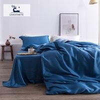 Liv Esthete Luxury 100% Silk Bedding Set Mulberry Top Grade Healthy Beauty Quilt Cover Flat Sheet Pillowcase Queen King Bed Set