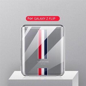 Image 4 - Custodia protettiva per Smartphone per Samsung Galaxy Z Flip accessori per telefoni cellulari custodia rigida antiurto per PC in cristallo trasparente