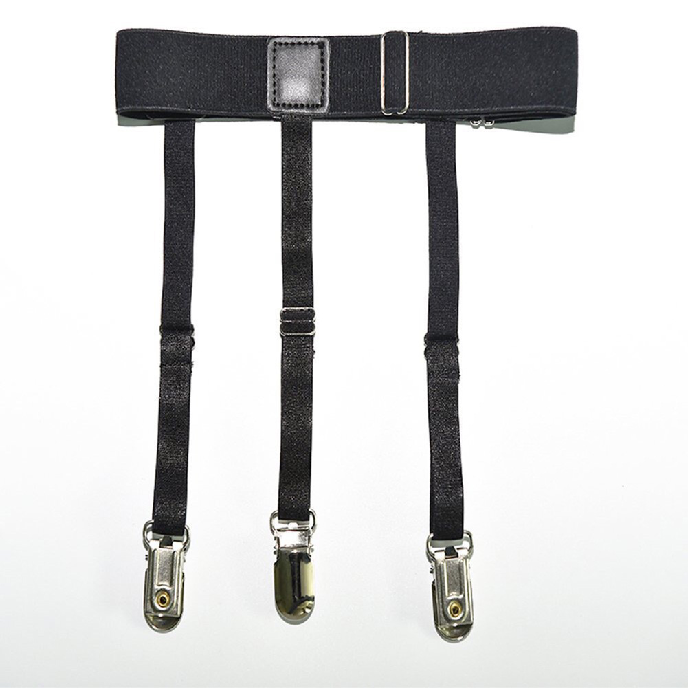 Newly 2 Pcs Men Shirt Stays Belt With Non-slip Locking Clips Keep Shirt Tucked Leg Thigh Suspender Garters Strap CLA88