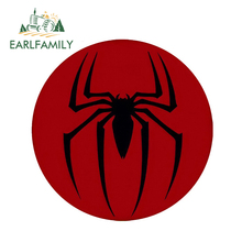 EARLFAMILY 13cm x 3D Car Stickers Spiderman Classic Logo Cool Styling Waterproof Body Bumper Decals Door Decoration