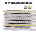 5m Светодиодные ленты 2835 5050 5054 120 240 светодиодов/m DC12V гибкий канат лента светильник натуральный белый/теплый белый