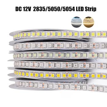 Taśma LED 5m 2835 5050 5054 120 240 leds m DC12V elastyczna lina taśma wstążkowa lampa światła naturalny ciepły biały tanie i dobre opinie GAHADA CN (pochodzenie) ROHS SALON 50000h ZAWSZE WŁĄCZONY Taśmy Epistar 3000-3500K 12 v Smd2835 Via Roma 60 120 LEDs m