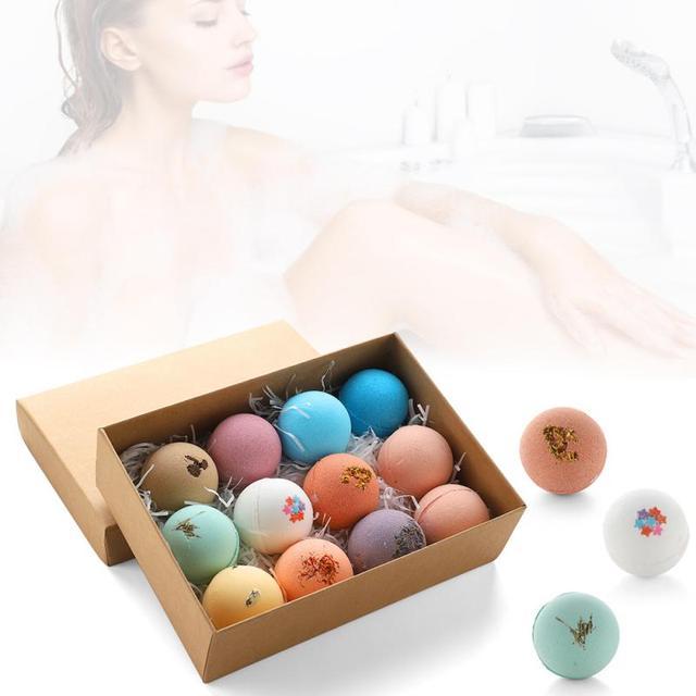 12pcs/set Petal Handmade Essential Oil Moisturize Bath Salt Bubble Bath Bomb Bubble Bath Petal Soap box pack Hot Sale 2020 TSLM1