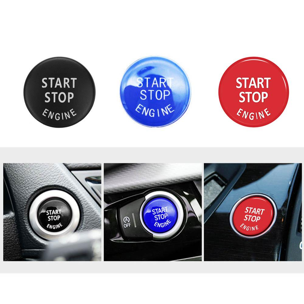 Car Engine Start Stop Switch Button Replace Cover For BMW 1/3/5 Series E87 E90/E91/E92/E93 E60 X1 E84 X3 E83 X5 E70 X6 E71 Z4