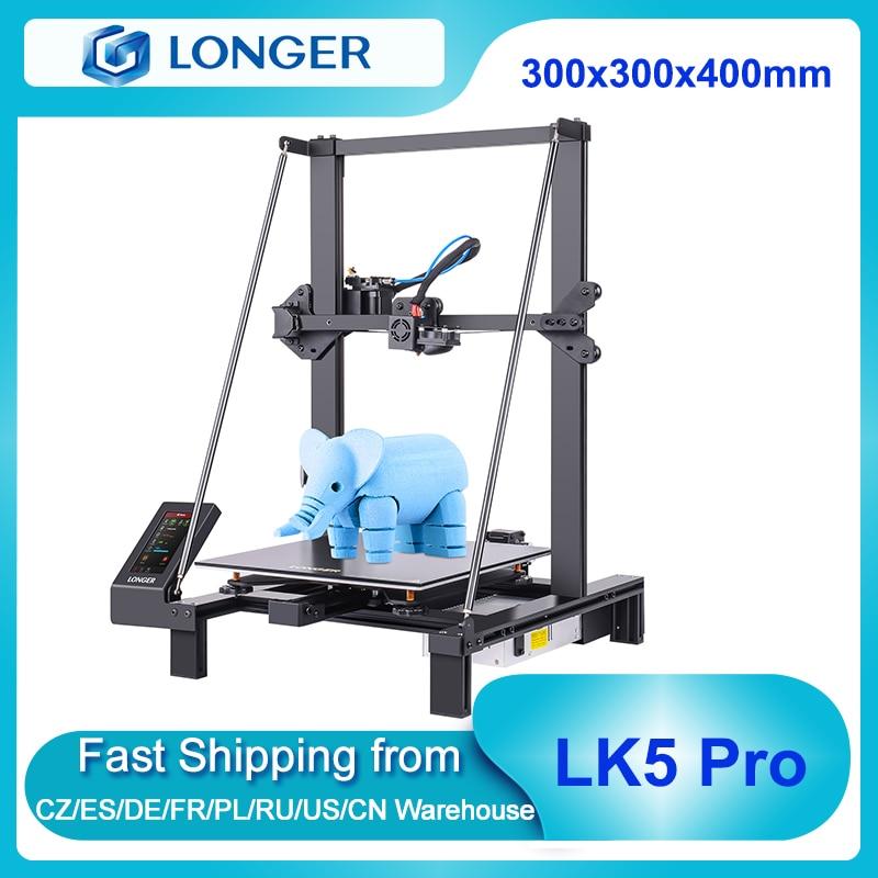 3D-принтер LONGER LK5 Pro FDM 90%, предварительно собранный, 300x300x400 мм с TMC2208, бесшумный детектор филаментов с драйверами, возобновление печати