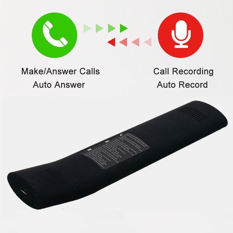 Gravador de Chamadas do Bluetooth portátil Sem Fio Dispositivo de Gravação de Chamadas de Telefone Celular Receptor de Chamada Ditafone para iPhone Android