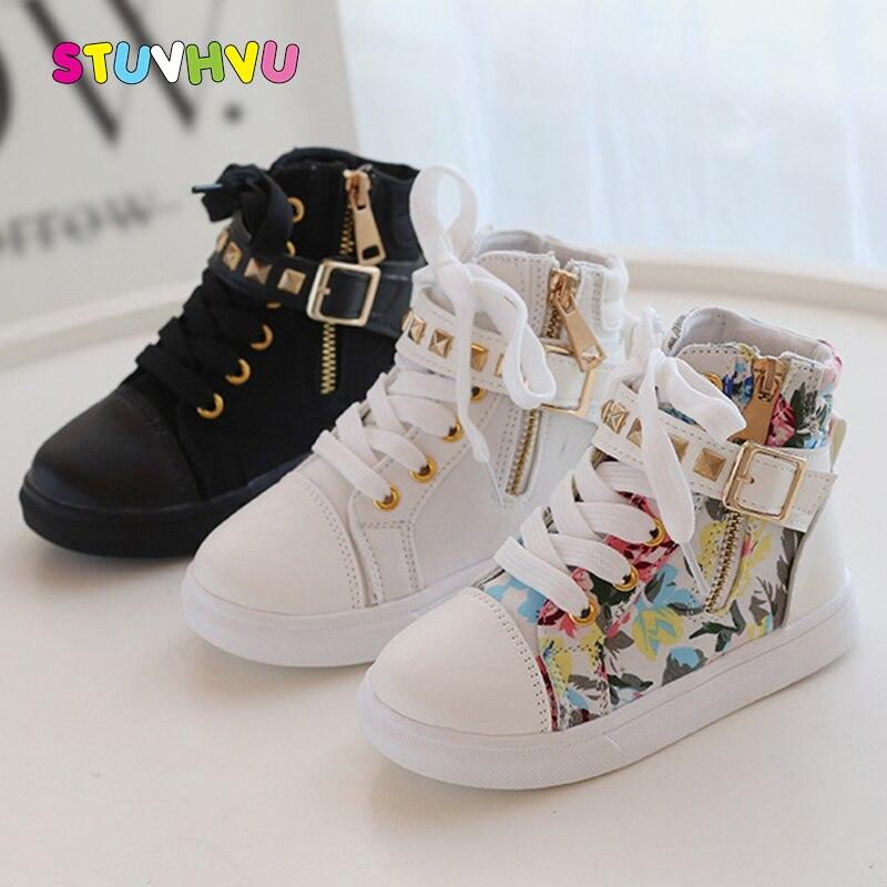 Высокие кеды для мальчиков и девочек, холщовые кроссовки, белые, черные, демисезонные ботинки