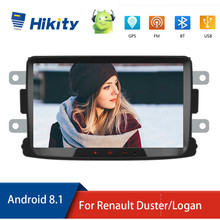 "Hikity 2din רדיו רכב אנדרואיד 8.1 מולטימדיה לרכב נגן GPS 8 ""Autoradio Wifi Mirrorlink עבור רנו Sandero Duste לוגן dokker"
