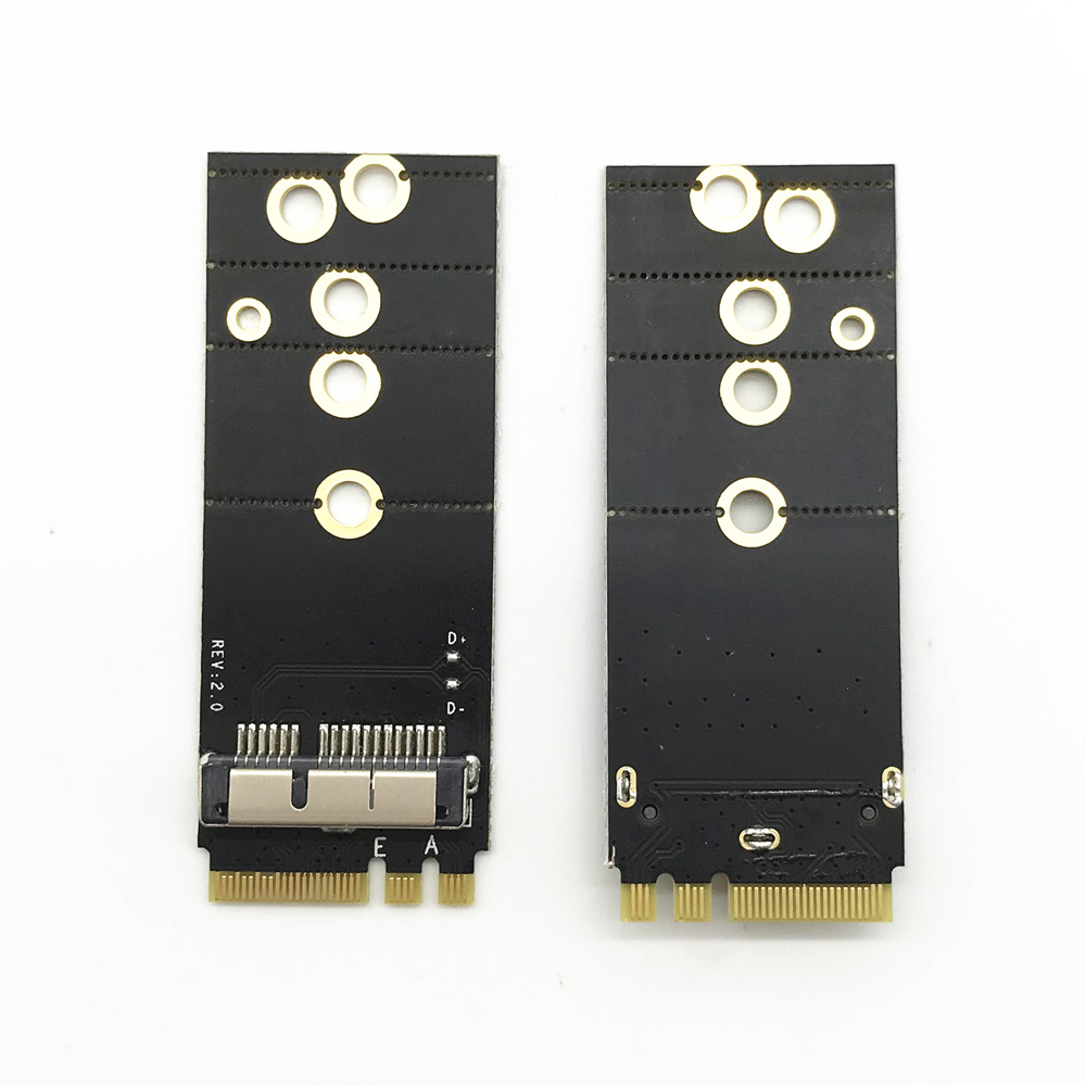 BCM94360CS2 BCM943224PCIEBT2 BCM94331CSAX BCM94331CD BCM94360CS BCM943602CS Wireless Card To NGFF M.2 Key A/E Adapter For Mac OS