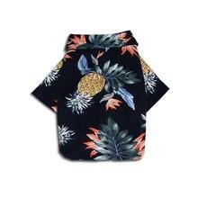 Привлекательная дышащая повседневная одежда для собак с рисунком ананаса, шифоновая одежда среднего размера, прочная Гавайская Одежда для собак, костюм