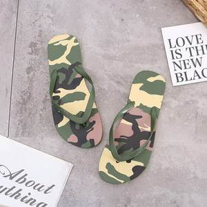 2020 Camouflage Flip Flops Slippers For Women Summer Beach Casual Shoes Military Fashion Outdoor Rubber Slipper Flat Heel Slides
