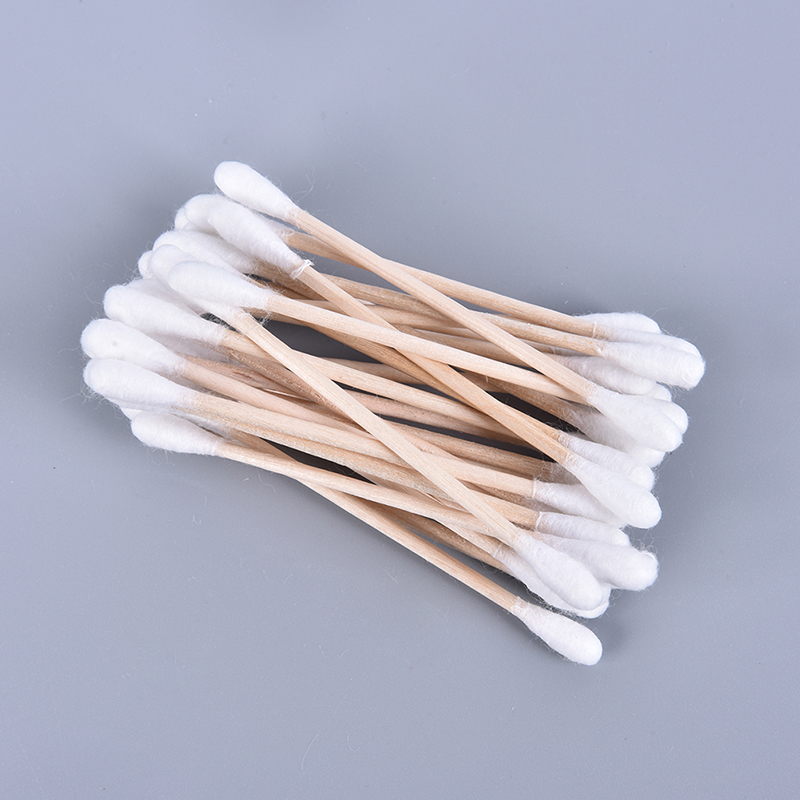 100pcs/ Pack Double Head Cotton Swab Women Makeup Bamboo Cotton Buds Eyeshaow Blending Tool For Nose Ears Cleaning Tools