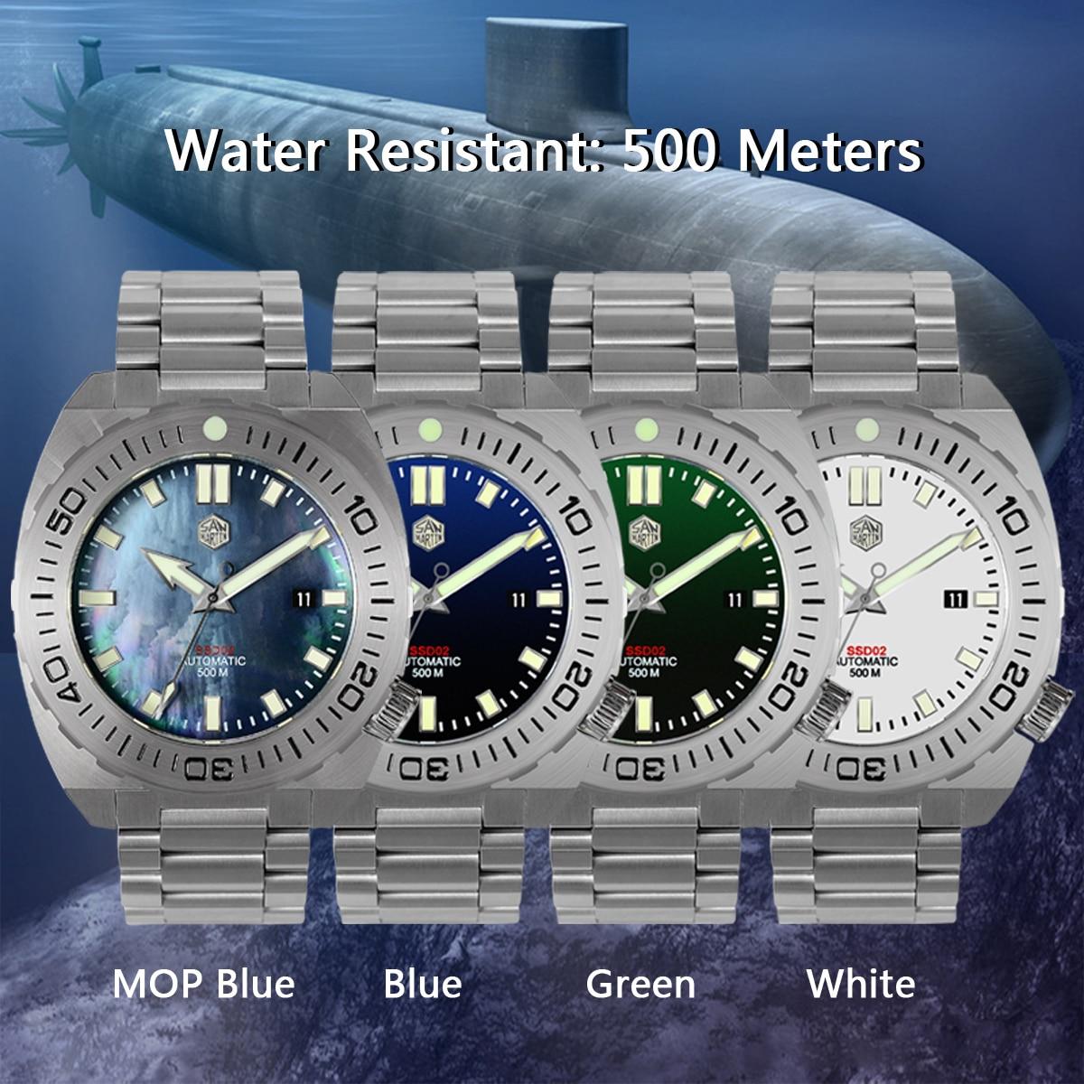 Montre hommes montres mécaniques saphir automatique étanche 500 m