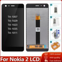 100% oryginalny dla Nokia 2 N2 TA 1007 TA 1029 TA 1023 TA 1035 TA 1011 wyświetlacz LCD ekran dotykowy wymiana Digitizer zgromadzenie