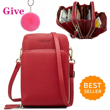 Crossbody Bag Phone Bag Women Solid PU L