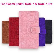 3D Flower Leather Case For Xiaomi Remdi Note 7 & Redmi Note 7 Pro Cover Flip Wallet Case Coque(China)