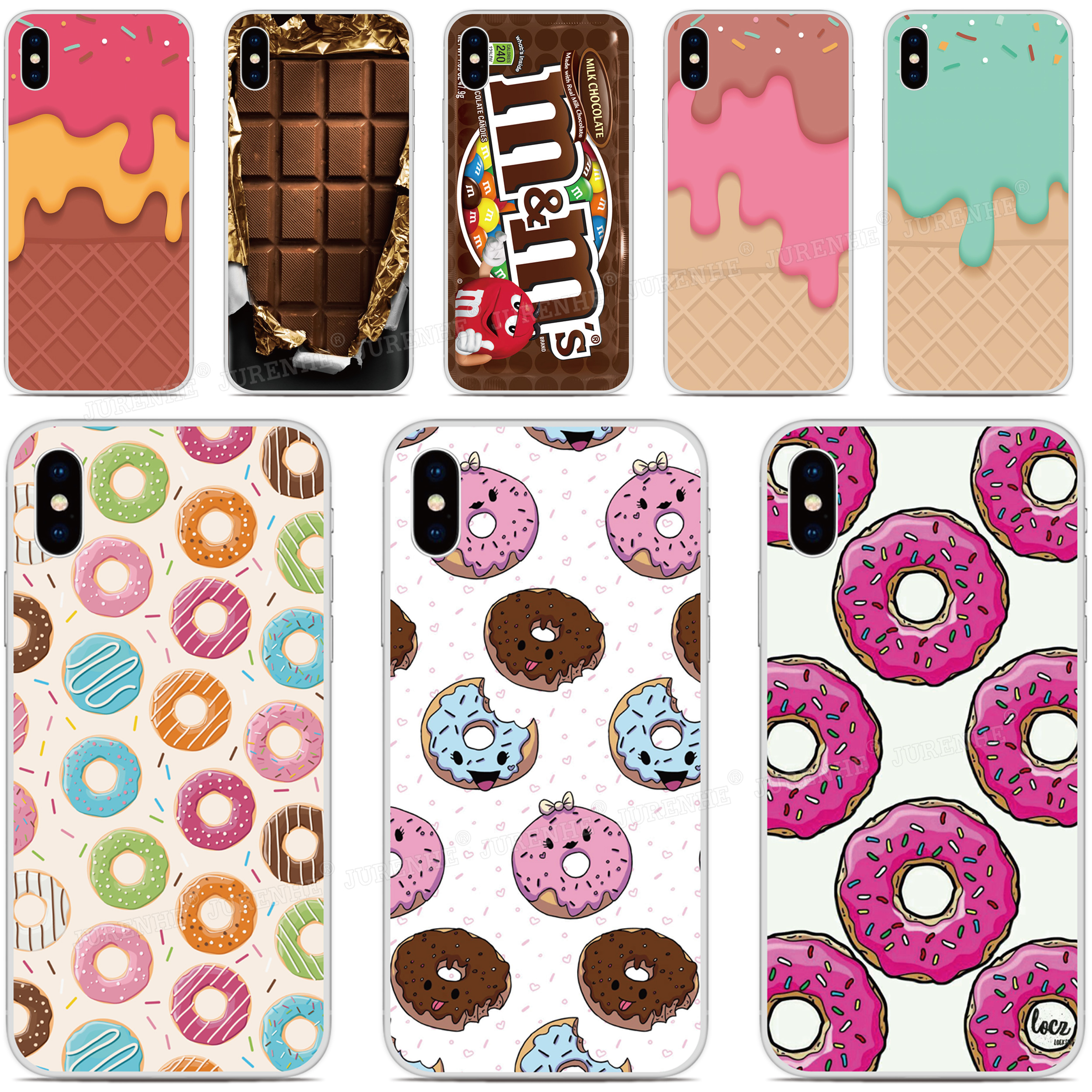 Chocolate Donut Phone Case For LG Stylo 6 5 4 Aristo5 Plus K31 K51 Velvet V50S G7 G8 Thinq K11 K10 K9 K8 2018 Rakuten Mini Cover