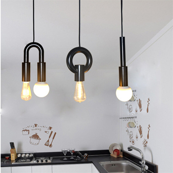 Personality Letters Restaurant Pendant Lights Simple Iron Dining Light Aisle Balcony Lamp Free Shipping LED Bulbs Cord Pendant post modern individuality iron pendant lamp restaurant cafe bar hotelroom decoration light free shipping led bulbs cord pendant