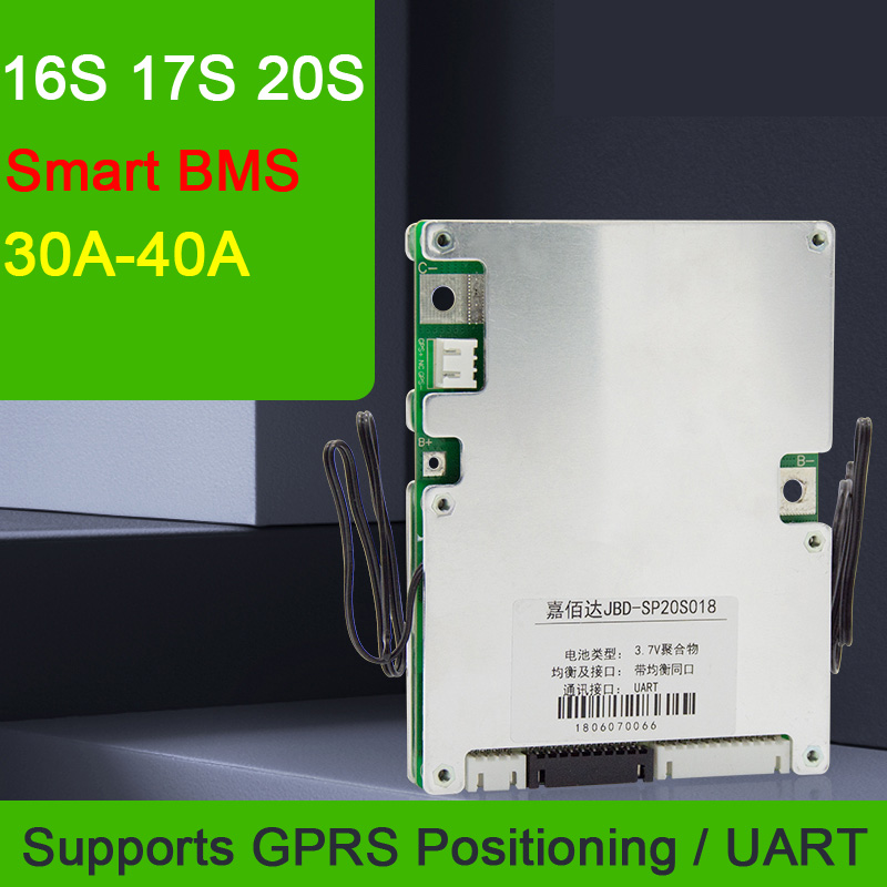 Dykb 16S 17S 20S 48V 60V 72V 30A 40A Li-ion Lifepo4 Lithium Battery Protection Board Smart BMS Balance Remote GPRS Power Off