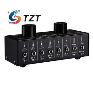 Image 4 - TZT переключатель аудиовхода, переключатель аудиовхода, переключатель сигнала, поддержка 6 в 2 OUT и 2 в 6 OUT 3,5 мм порты