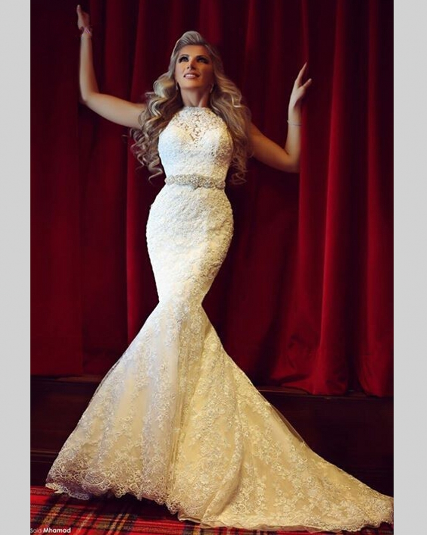 High Neck Lace Robe De Mariee Mermaid Bridal Gown With Appliques And Beading 2018 Vestido De Noiva Mother Of The Bride Dresses