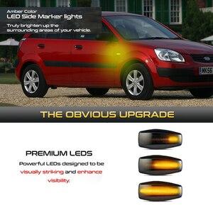 Image 2 - 2 adet Hyundai akan su göstergesi LED yan işaretleyici dönüş sinyal ışığı Accent LC Trajet Coupe Excel 2 Verna 2 I10 Getz