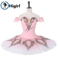 Sugar Plum Fairy Professional Ballet Tutu Pink Nutcracker Ballet Performance Costume Women Ballet Pancake Tutu Dress BT9282