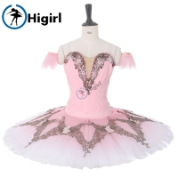 Sugar Plum Fairy Professional Ballet Tutu Pink Nutcracker Ballet Performance Costume Women Ballet Pancake Tutu Dress BT9282