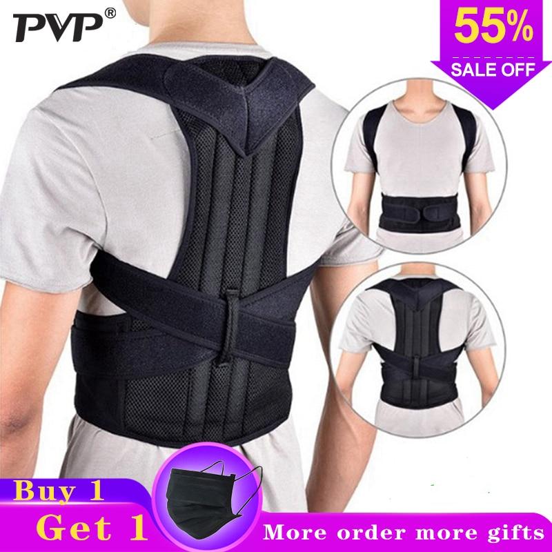 Postura de volta Corrector Ombro Cinta Lombar Cinto de Suporte Da Coluna Ajustável Adulto Corset Cinto Correção de Postura Do Corpo Cuidados de Saúde