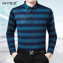 HIYSIZ Brand New Sweater Male 2019 Long Sleeves turn-down Collar Casual Pocket Streetwear Solid Striped Warm Men Pullover SW013