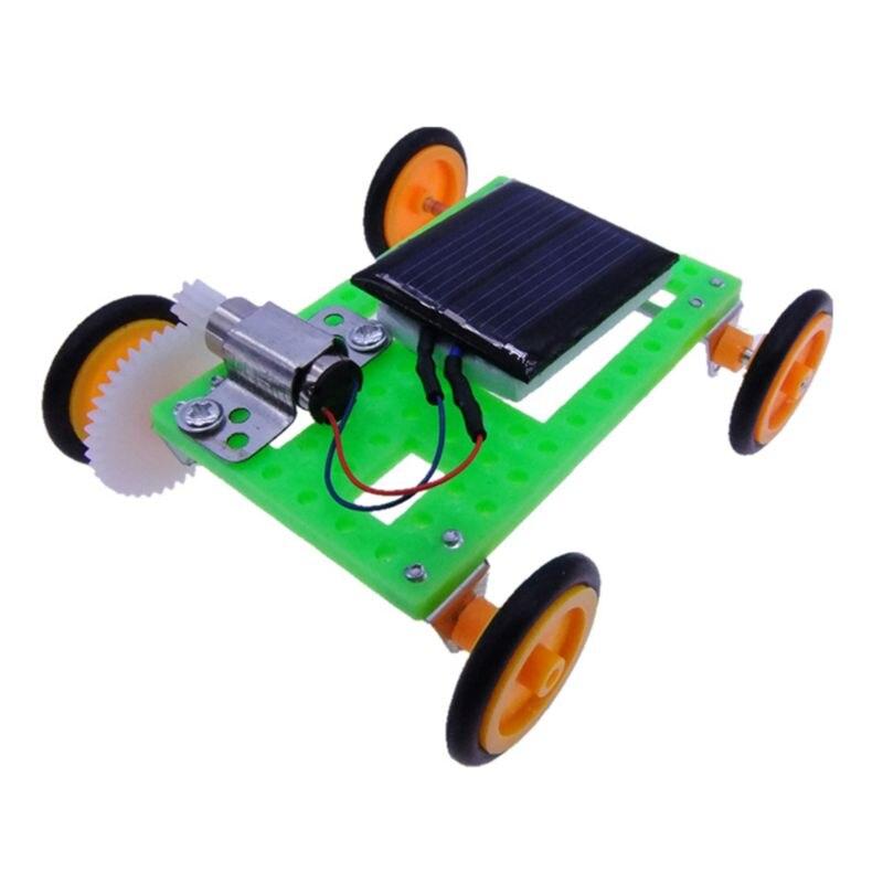 Mini Solar Powered Racing Car Vehicle DIY Kit Children Educational Gadget Kid Toy Science Set 634F