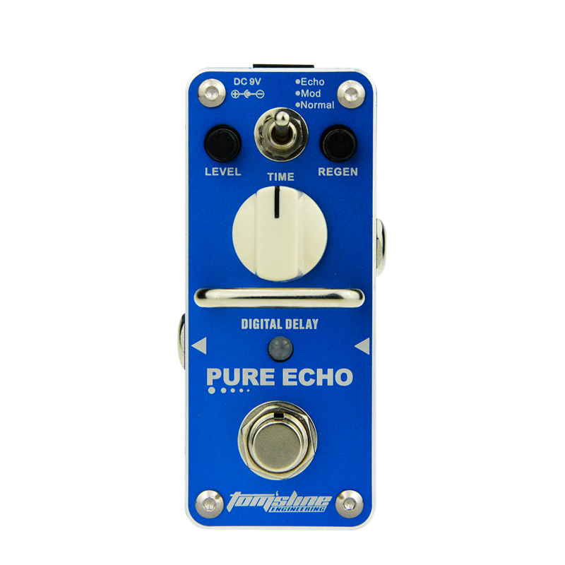 AROMA Pure Echo Digital Delay Electric Guitar Effect Pedal True Bypass 3 Modes Effects Guitar Pedals Processsor Accessories