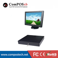12 Inch LCD Touch Screen Monitor with 330 cash drawer For Supermarket