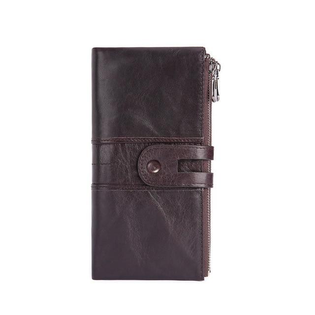 forma da carteira das senhoras do couro do vintage