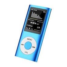 Alta fidelidade mini mp3 player música esportes walkman com fone de ouvido rádio fm 1.8 Polegada tft lcd tela 16gb 32 64gb micro sd tf cartão