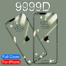9999D 3A Curved Full Cover Tempered Glass For iphone 11 Pro X XR XS Max Screen Protector Protective Glass on iPhone 11 7 8 Film