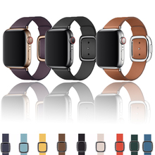 Lerxiuer Leather Modern buckle strap For Apple Watch band 4 44mm 40mm for apple watch 5 correa iwatch bracelet Accessories