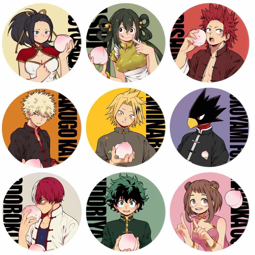 Mijn Hero Academia Anime Perifere Cartoon Ronde Acryl Badge Collectible Broche Pins Button Badges Zak Accessoires