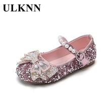Shoes Footwears Flats Spring ULKNN Girls Bow for Solid-Color Kid's Non-Slip Autumn Casual