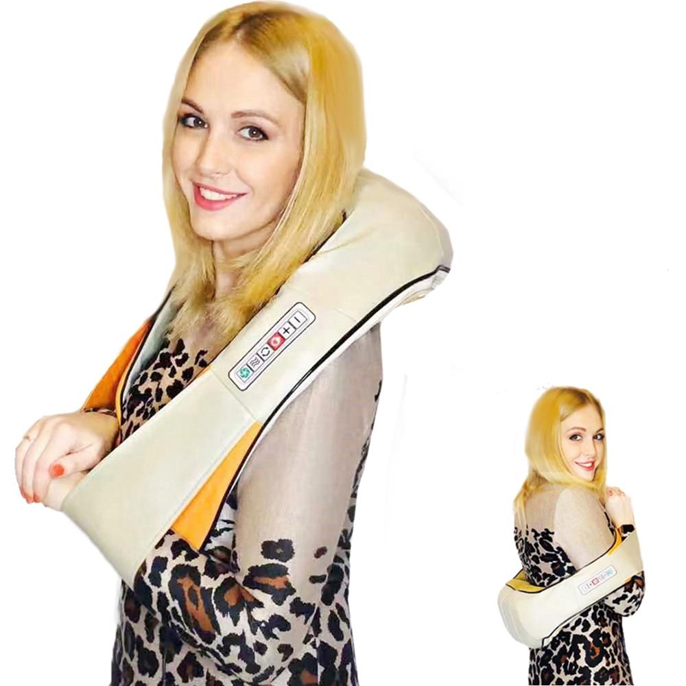 U Shape Electrical Shiatsu Back Neck Shoulder Body Massager Infrared Heated Kneading Car Home Massage Fitness 1ef722433d607dd9d2b8b7: China|Poland|Russian Federation|United States