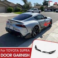 Автомобильный Стайлинг T тип двери из углеродного волокна гарнир боковая обшивка панели волокна Дрифт Сплиттер Комплект для Toyota 2019 на выше ...