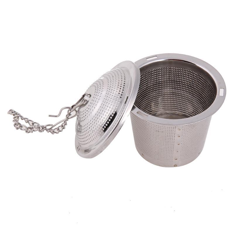 Metal Tea Infuser Stainless Steel Loose Leaf Strainer Mesh Filter Herbal Spice