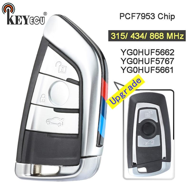 KEYECU 315/434/868 МГц PCF7953P CAS4 +/FEM YG0HUF5662 / 5767 обновленный 3-кнопочный пульт дистанционного управления для BMW 1 2 3 4 5 6 7 серии X3 M2