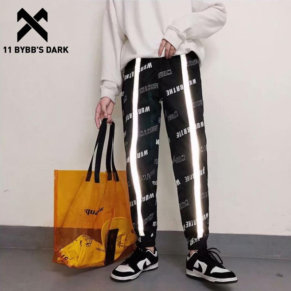 11 BYBB'S DARK Hip Hop Pants Streetwear Harajuku Joggers Men Loose Reflective Harem Pants 2019 Casual Pants Trousers Sweatpants