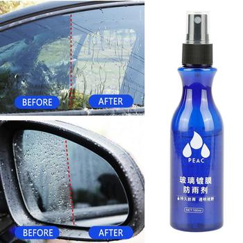 Automotive Glass Waterproof Coating Agent Car Windshield Glass Anti Rain Cleaner Oil Film Remover Rearview Mirror Rain Repellent nano spray coating auto rearview mirror repellent agent car glass anti water front windshield nano anti rain agent with towel